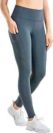 CRZ YOGA Womens High Waisted Yoga Pants with Pockets Athletic Leggings-28 inches Carbon Gray 12