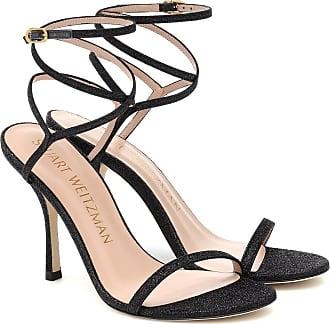 Stuart Weitzman Merinda glitter leather sandals