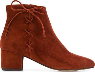 Tila March Ankle boot com cadarço - Laranja