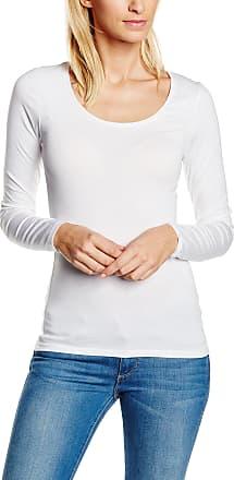 Vila Womens VIOFFICIEL NEW L/S TOP-NOOS Long Sleeve Top, White (Optical Snow), 40 ( M/L)