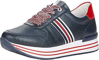 Remonte Women Lace-Up Flats, Ladies Casual lace-up,Sneaker,Low Shoe,Laces,Casual Shoe,Wedge Heel,Pazifik/Argento/Flamme/Pazifik / 14,45 EU / 10.5 UK