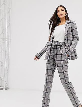 Y.A.S. Tall check paperbag waist trousers-Multi