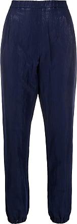 Fabiana Filippi crinkled tapered-leg trousers - Blue