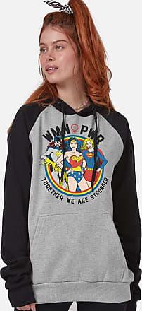 DC Comics Moletom Raglan Feminino DC Comics WMN PWR