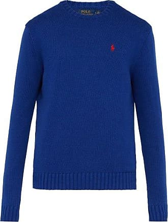 Polo Ralph Lauren Mens V-Neck Sweater NWT Navy Blue with Red Pony