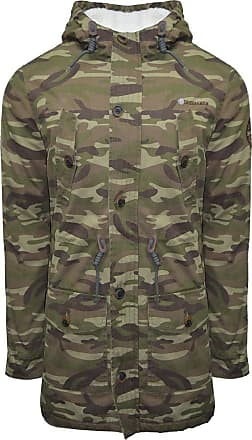 Lambretta Mens Carnaby Scooter Hooded Classic Mod Ska Badge Parka Quilted Lined - Camo 3XL