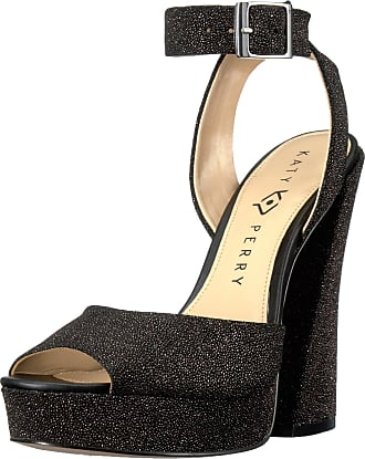 Katy Perry Womens The Maggie Heeled Sandal, Black, 7