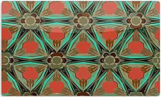 KESS InHouse Alison CoxonMoorish Earth Teal Orange Artistic Aluminum Magnet, 2 by 3, Multicolor