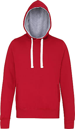 Awdis Womens Chunky Hoodie Side Pockets Hidden Earphone Loops 80% Ringspun Cotton 20% Polyester (X-Large, Red Hot Chilli)
