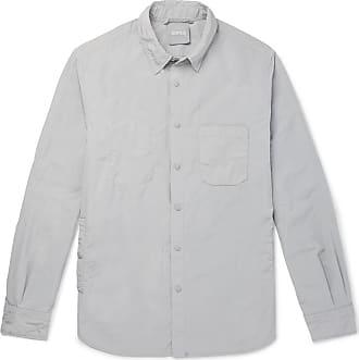 Aspesi Slim-fit Garment-dyed Shell Overshirt - Gray