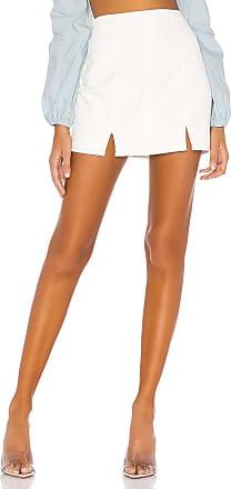 Superdown Darby Slit Button Skirt in White