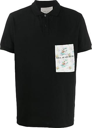 Frankie Morello Camisa polo com logo bordado - Preto