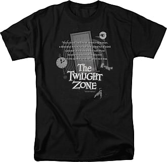 Popfunk Twilight Zone Monologue Unisex Adult T Shirt for Men and Women Black
