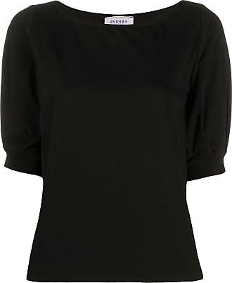Snobby Sheep Camiseta gola redonda com mangas curtas - Preto