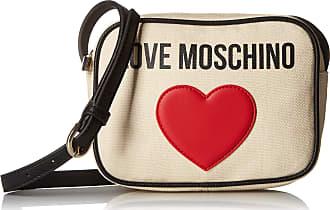 Love Moschino Borsa Canvas E Pebble Pu, Womens Top-Handle Bag, Black (Nero), 7x15x20 cm (W x H L)