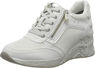 Mustang Womens 1319-305-100 Low-Top Sneakers, White (Off-White 100), 5 UK