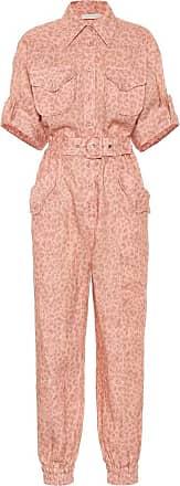 Zimmermann Exclusive to Mytheresa - Leopard-print linen jumpsuit