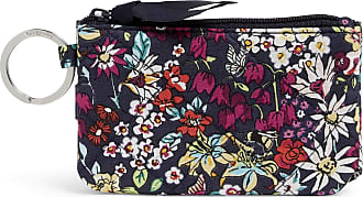 Vera Bradley Womens Signature Cotton RFID Deluxe Zip ID Case, Itsy Ditsy, One size