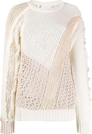 Koché Suéter de tricô com recortes - Branco