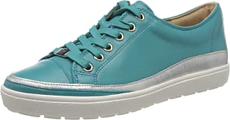 Caprice Womens Manou Low-Top Sneakers, Turquoise (Turquoise Nap. 825), 6.5 UK