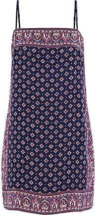 Joie Joie Woman Adryel Printed Silk Crepe De Chine Mini Dress Navy Size M
