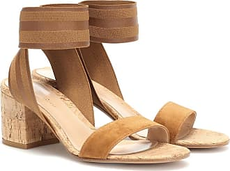 Gianvito Rossi Suede and cork sandals