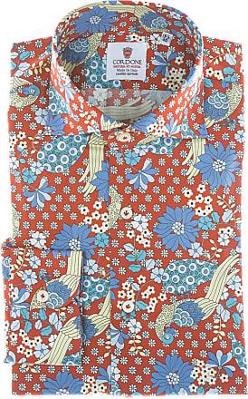 Cordone 1956 Camicia sartoriale Mod. Positano - Tessuto cotone - popeline - Colore rossa - Taglia 36