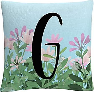 Trademark Fine Art Pink Floral Garden Letter Illustration G by ABC