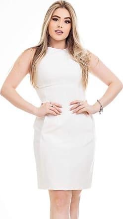 Clara Arruda Vestido Clara Arruda Tubinho Bolsos 50545-38 - Off White