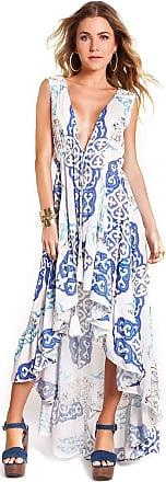 Empress Brasil Vestido Empress Brasil Kate Estampa Azulejo Azul