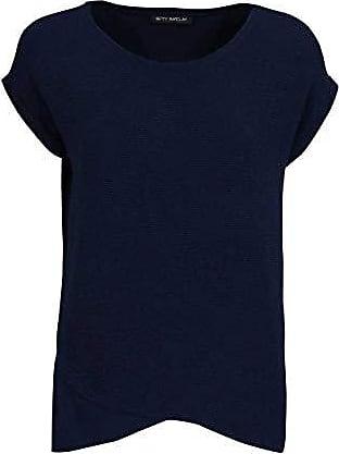 Betty Barclay Damen Shirt Kurzarmshirt Blusenshirt Gemustert Mode marine//weiß
