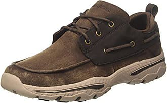 Skechers Mens Relaxed Fit-Creston-Vosen Boat Shoe,chocolate,8 M US