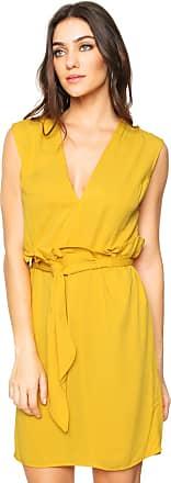 Colcci Vestido Colcci Curto Amarração Amarelo