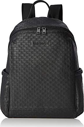 83c4076f07 Armani Metal Logo Patch Backpack - Zaini Uomo, Nero (Black Check), 12x5x16