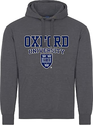 Oxford University Crest Hoodie - Dark Heather - XL