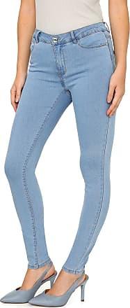Vero Moda Calça Jeans Vero Moda Skinny Pespontos Azul
