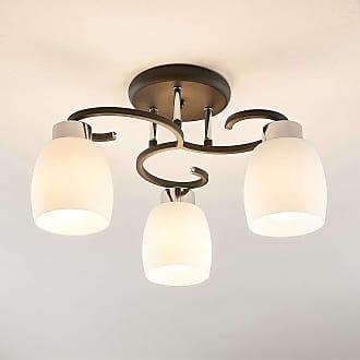 Lindby Daliah lámpara de techo 3 pantallas vidrio