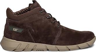 Boots cuir velours en CAT Éram marron 80kNPnwOX