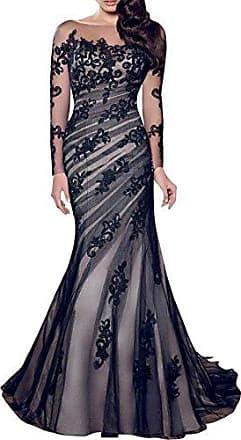 b35af2482a786f Guiran Damen Elegant Lange Ärmel Cocktailkleid Partykleid Maxikleid  Abendkleid Brautjungfernkleid Ballkleid XL