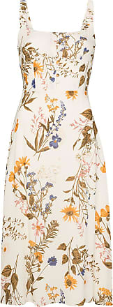 Reformation Vestido midi com estampa floral Camari - Neutro