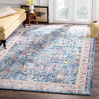 Safavieh Vintage-Teppich Myra Vision Marineblau Rechteckig 160x230 cm (BxT) Modern Vintage Design Kunstfaser