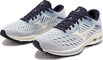 Mizuno Womens Wave Rider 24 Road Running Shoe, Arctic Ice/Swhite/Mid Indigo