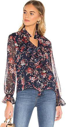 Bardot Floral Blouse in Blue