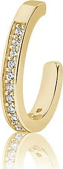 Sif Jakobs Jewellery Ear cuff Simeri - 18k gold plated with white zirconia