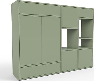 MYCS Highboard Nebelgrün - Highboard: Schubladen in Nebelgrün & Türen in Nebelgrün - Hochwertige Materialien - 154 x 118 x 35 cm, Selbst designen