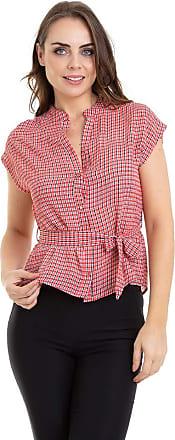 Kinara Camisa Xadrez sem Manga com Faixa-G