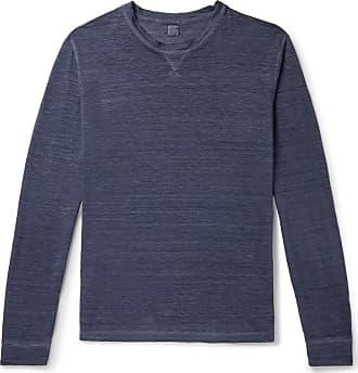 120% CASHMERE Slub Linen T-shirt - Blue