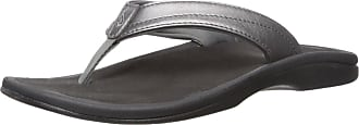 Olukai Womens Ohana Sandals, 5 M UK, Pewter/Black