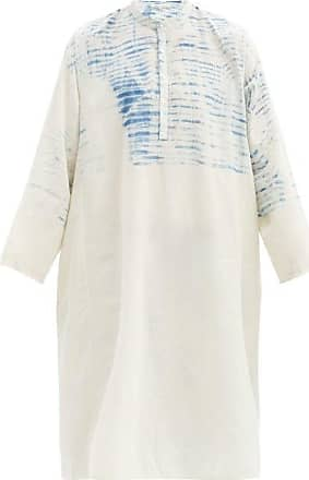 11.11 / eleven eleven 11.11 / Eleven Eleven - Mud-resist Striped Cotton-khadi Tunic - Mens - Cream Multi