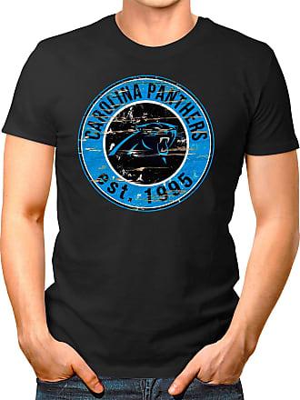 OM3 Carolina-Badge - T-Shirt | Mens | American Football Shirt | XL, Black